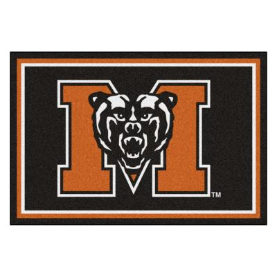 NCAA - Mercer University Black 8 ft. x 5 ft. Indoor Area Rug