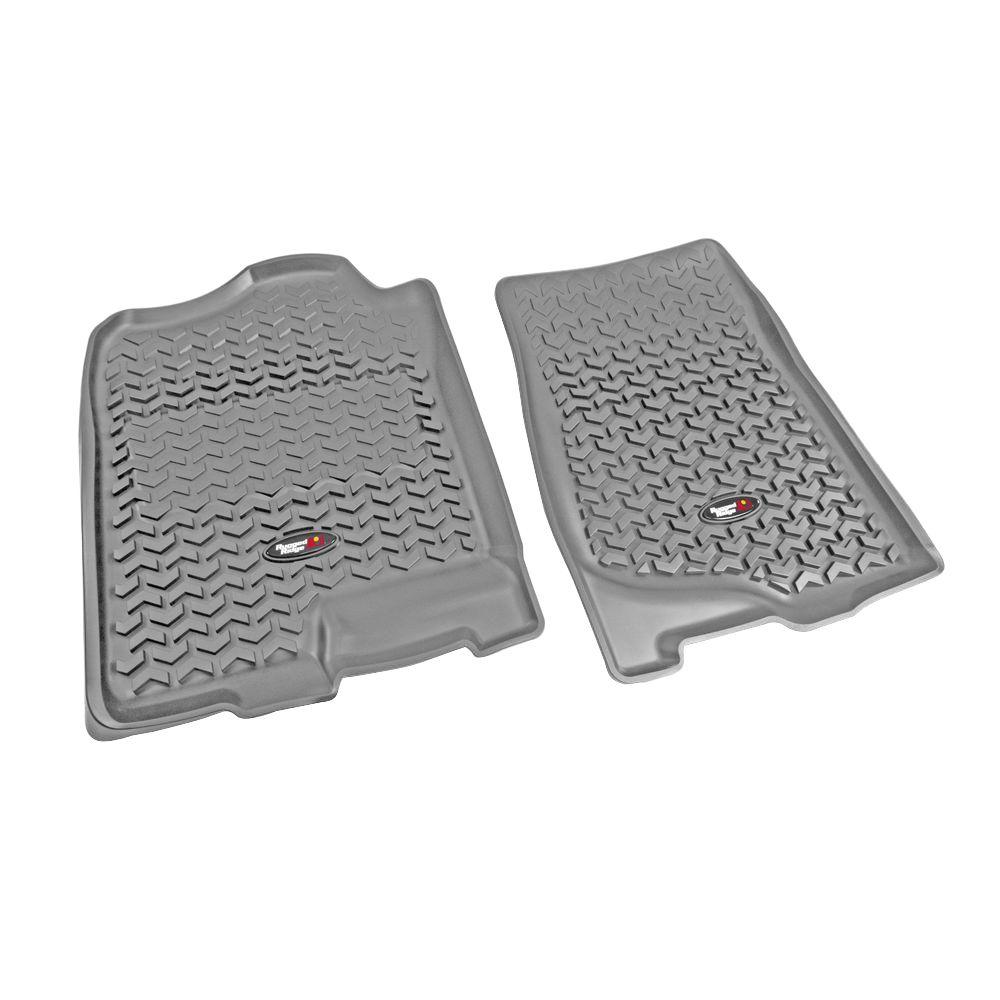Rugged Ridge Floor Liner Front Pair Gray 2007-2013 GM Full-Size Pickup and SUV
