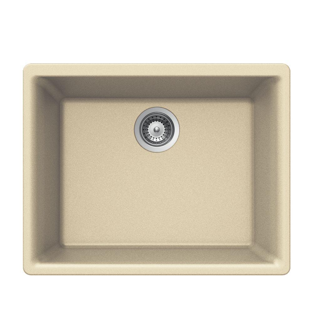 houzer quartztone undermount composite granite 24 in 1. Black Bedroom Furniture Sets. Home Design Ideas