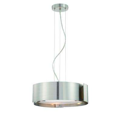 Dervish Collection 5-Light Chrome Hanging Large Pendant
