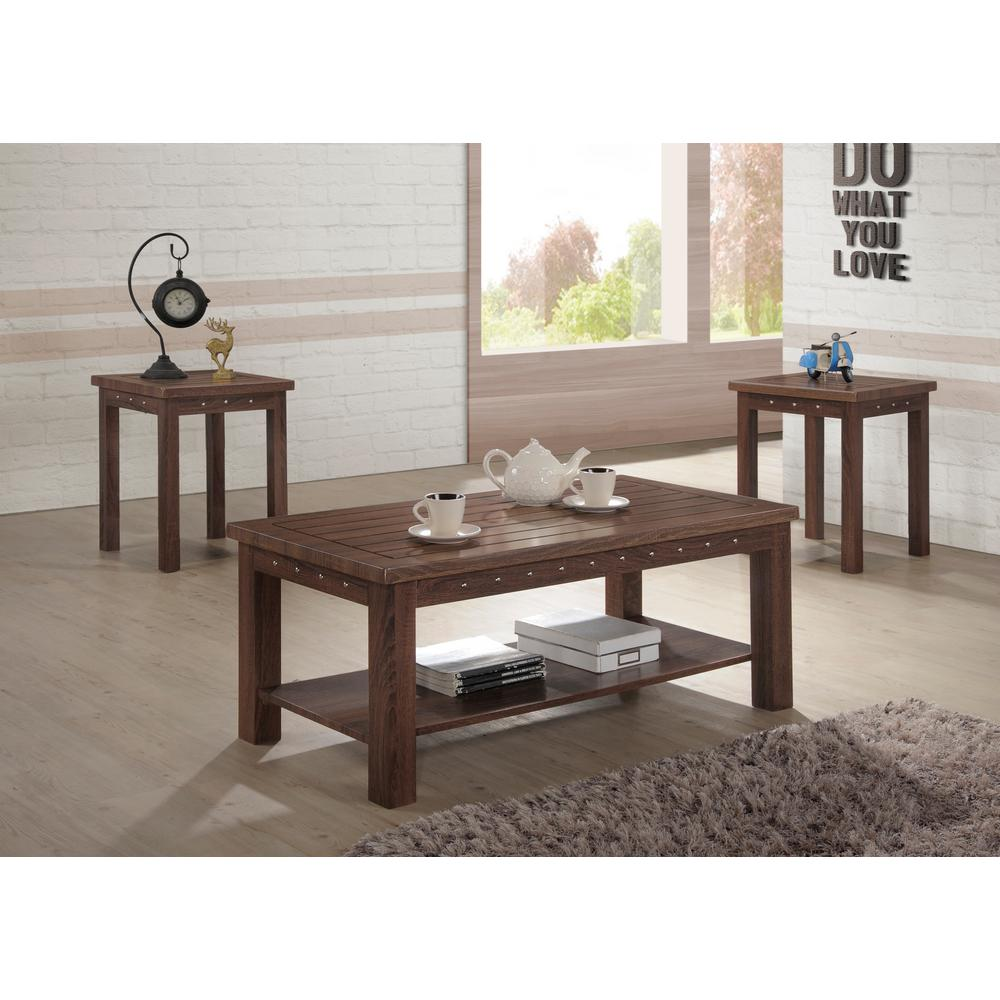 Ottomanson Verlin Antique Cherry Coffee And End Table (Set