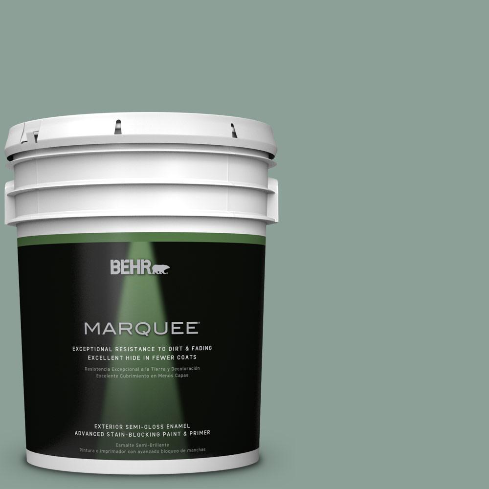 5-gal. #QE-44 Eucalyptus Semi-Gloss Enamel Exterior Paint