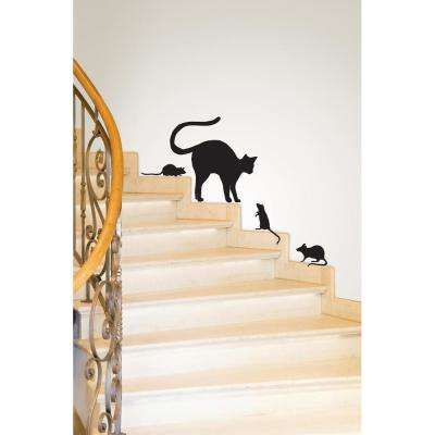 24 in. x 17.5 in. Black Cat Small Wall Art Kit