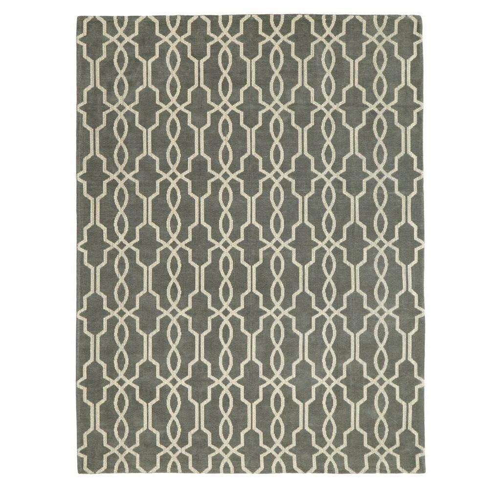 Home decorators collection kingston smoke blue ivory 9 ft for Home decorators echelon rug