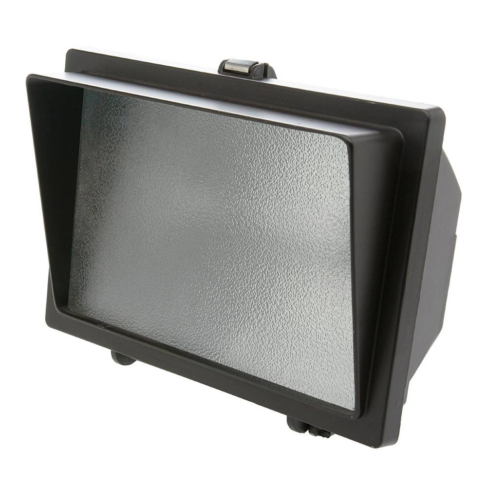 Designers edge 500 watt bronze outdoor landscape flood light with designers edge 500 watt bronze outdoor landscape flood light with halogen bulb aloadofball Image collections