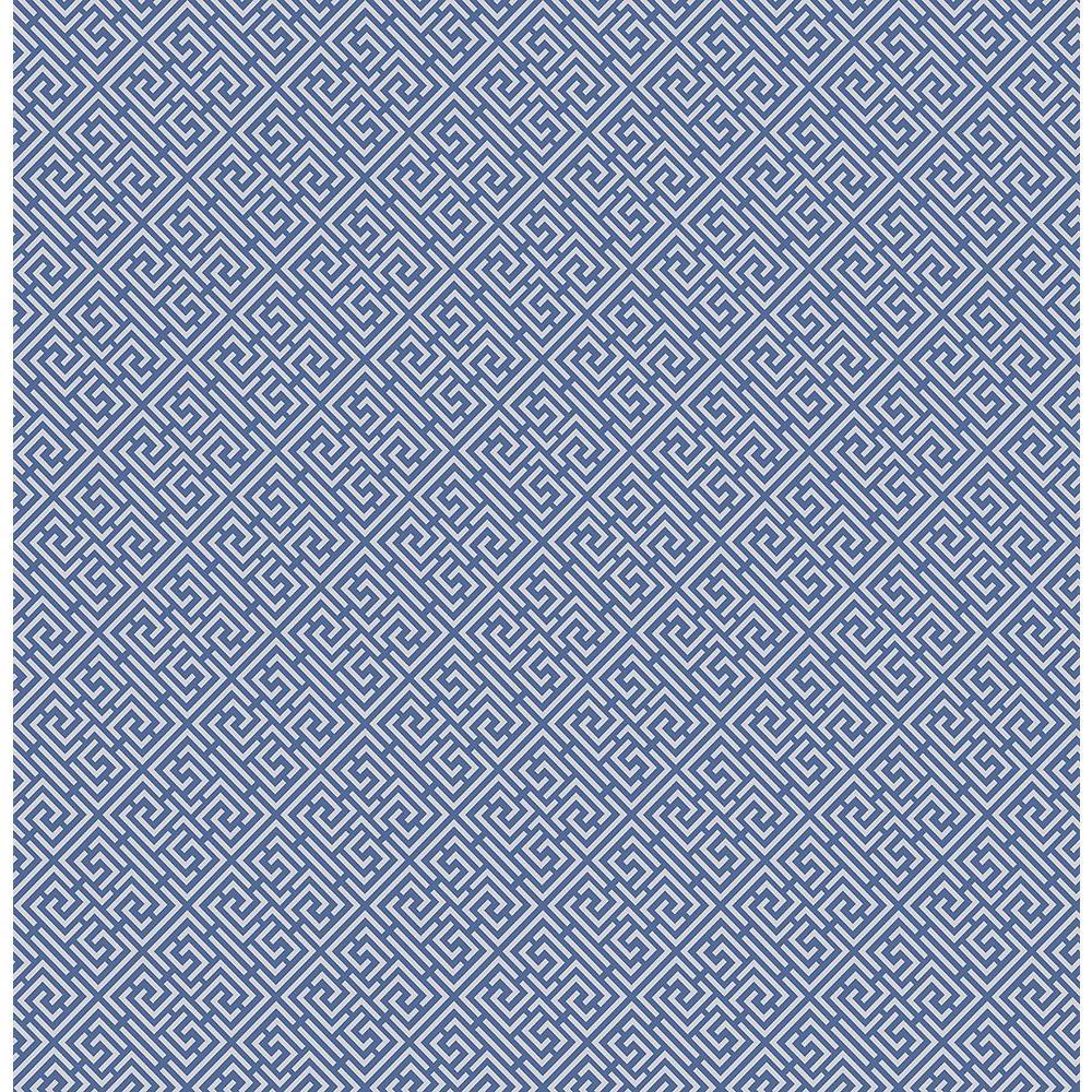 Pavilion Sapphire Trellis Wallpaper