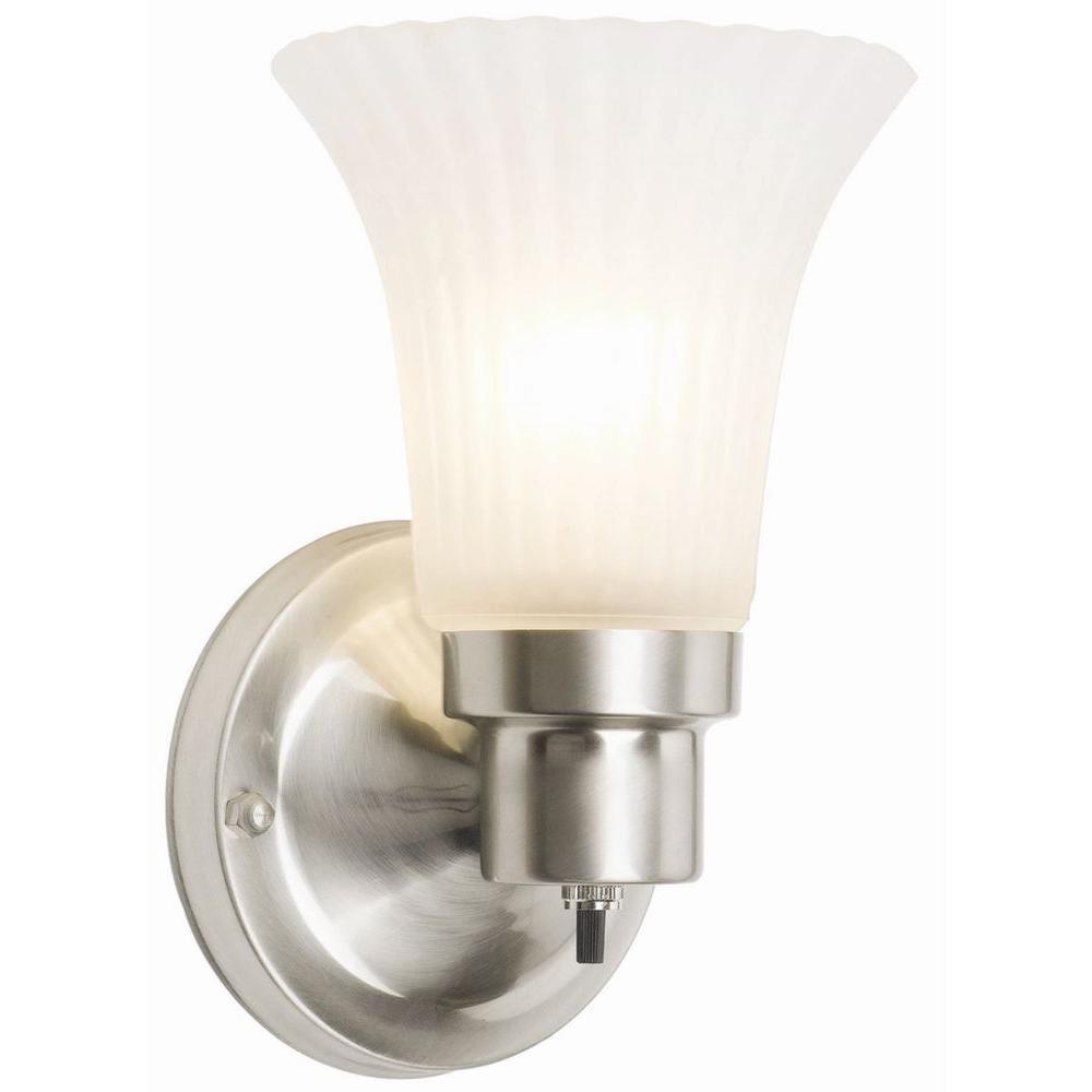 Design House 1-Light Satin Nickel Vanity Sconce