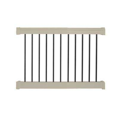 Bellaire 3 ft. H x  4 ft. W Khaki Vinyl Railing Kit