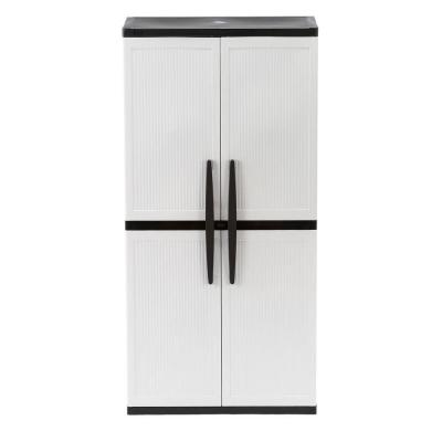 35 in. W 4 Shelf Plastic Multi-Purpose Cabinet in Gray