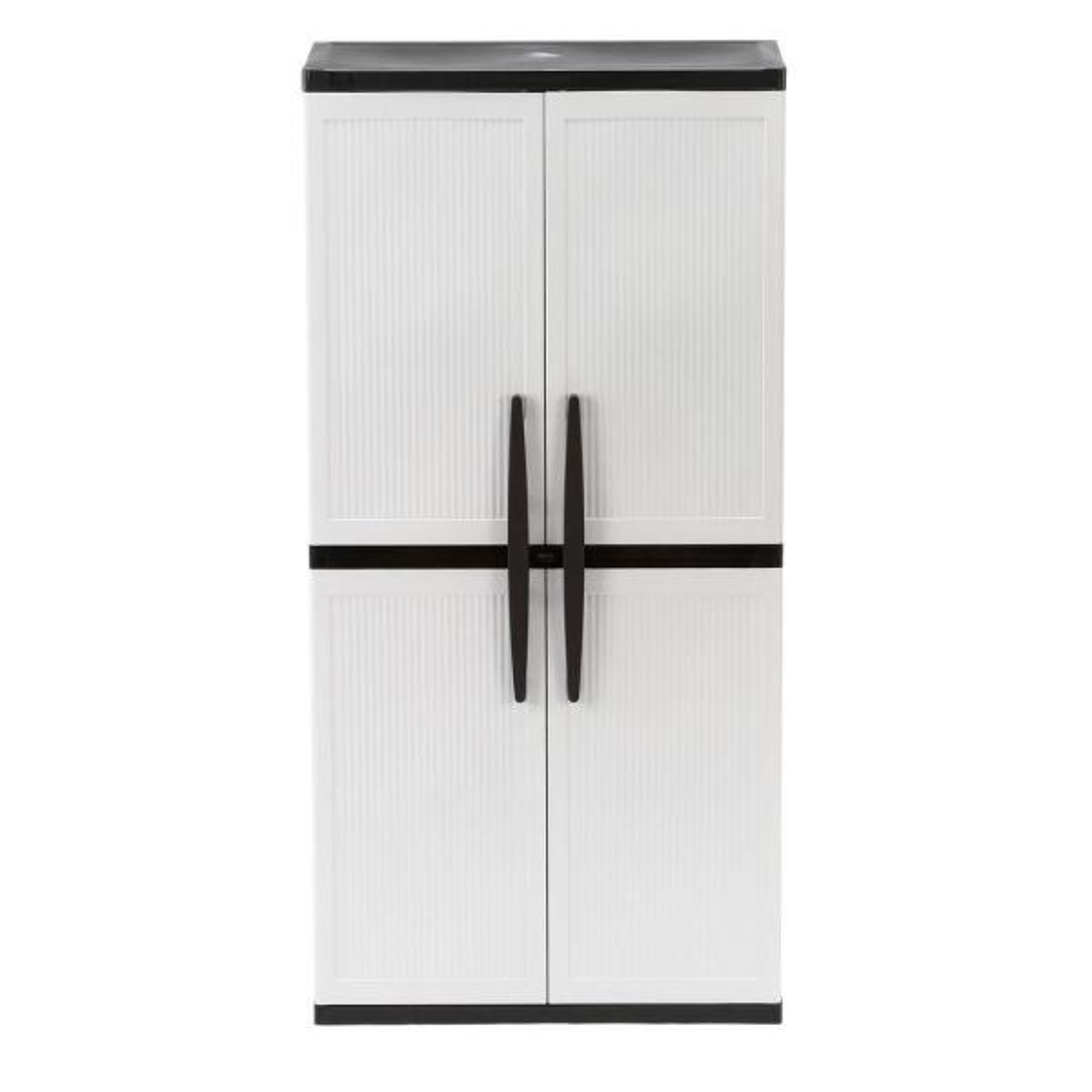 Hdx Plastic Freestanding Garage Cabinet, Garage Storage Wall Cabinets Home Depot