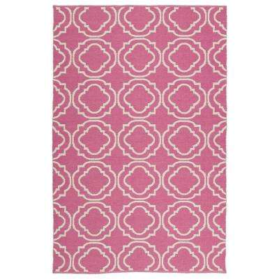 Brisa Pink 9 ft. x 12 ft. Indoor/Outdoor Reversible Area Rug
