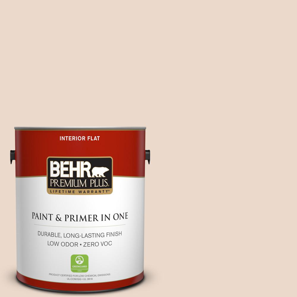 1 gal. #S240-1 Creme Fraich Flat Zero VOC Interior Paint and