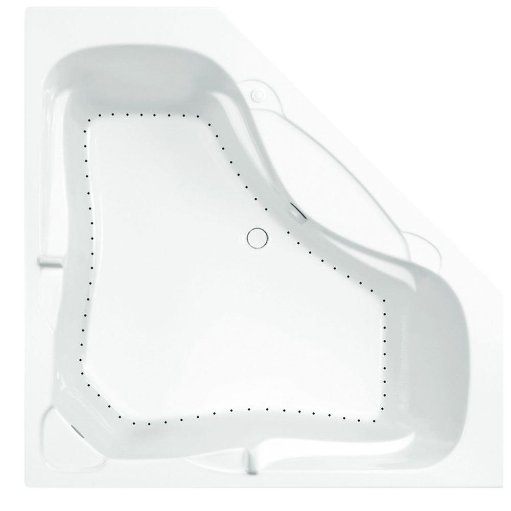 Aquatic Preakness 5 ft. Air Bath Tub in White
