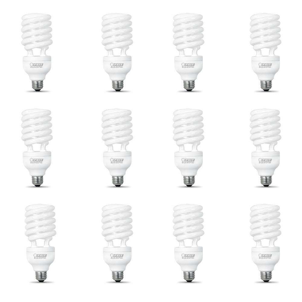 150W Equivalent Soft White (2700K) Spiral CFL Light Bulb (12-Pack)