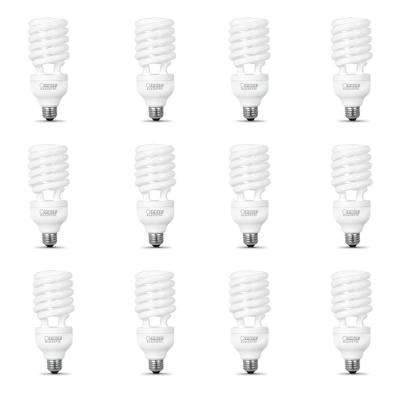 150-Watt Equivalent Soft White Spiral CFL Light Bulb (12-Pack)