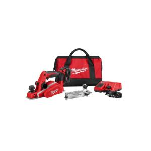 Milwaukee M18 18-Volt Lithium-Ion Cordless 3-1/4 inch Planer Kit with (1) 3.0Ah Batteries, Charger,... by Milwaukee