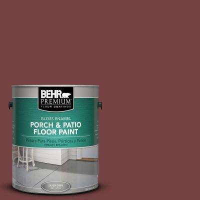 1 gal. #PFC-04 Tile Red Gloss Interior/Exterior Porch and Patio Floor Paint
