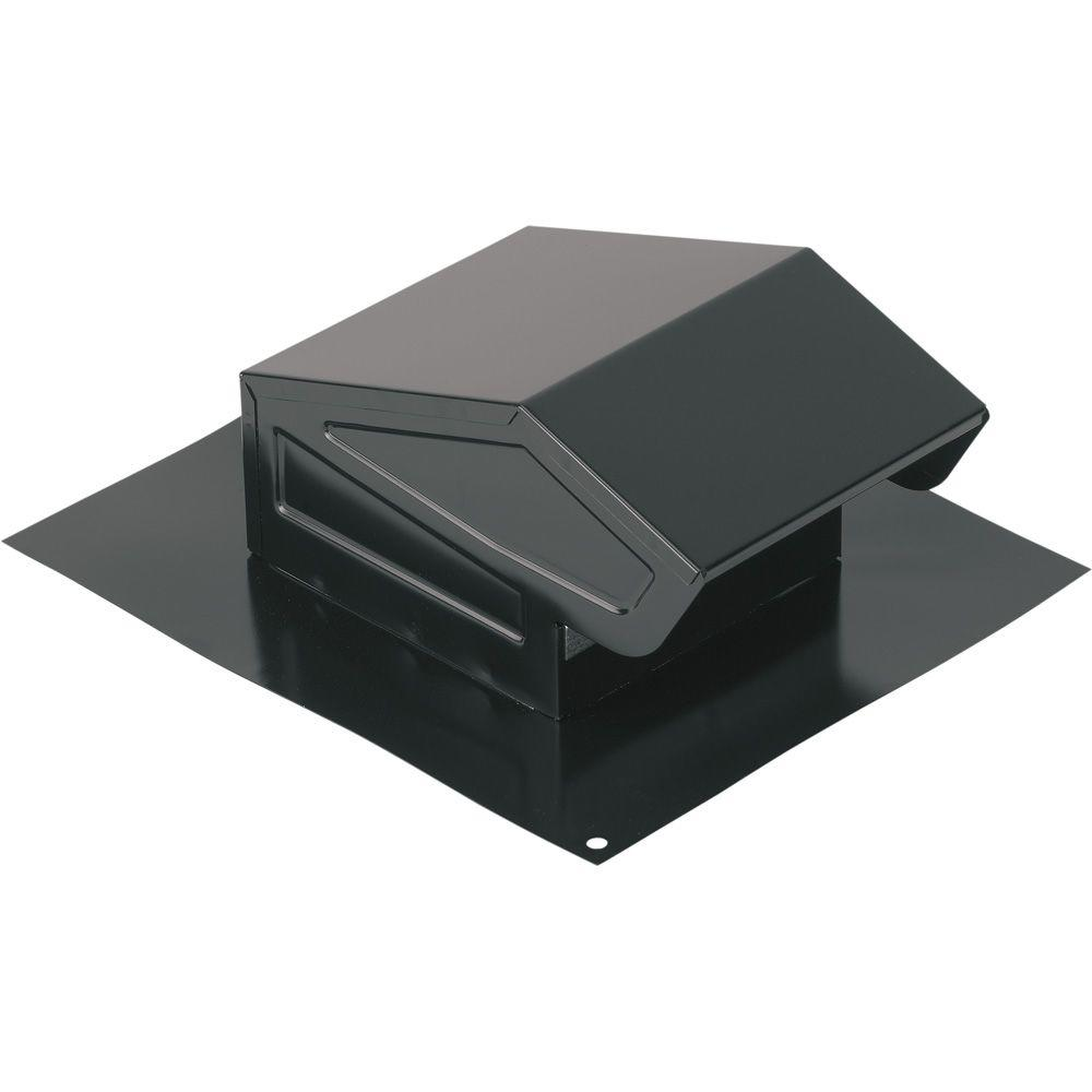 Broan-NuTone Roof Cap with Built-In Damper for 3 in. or 4 in. Round Duct in Black