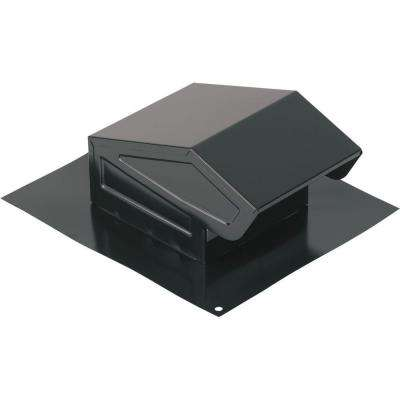 Roof Cap with Built-In Damper for 3 in. or 4 in. Round Duct in Black