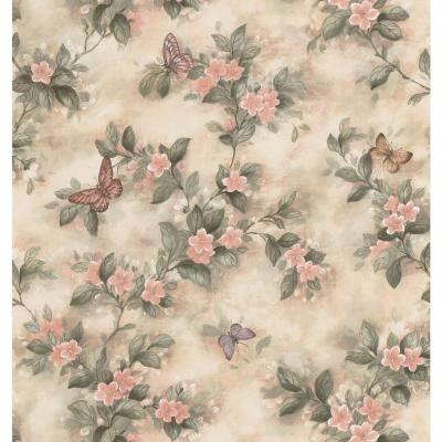 Butterfly Floral Pastel Vinyl Peelable Roll (Covers 56.4 sq. ft.)
