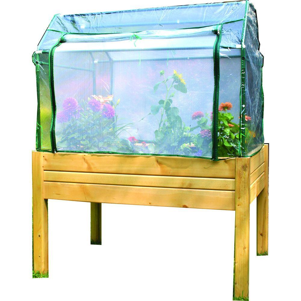 3 ft. x 4 ft. Cedar Raised Garden Table with Optional Enclosure