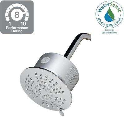5-Spray 6 in. Showerhead with Bluetooth Speaker in Chrome