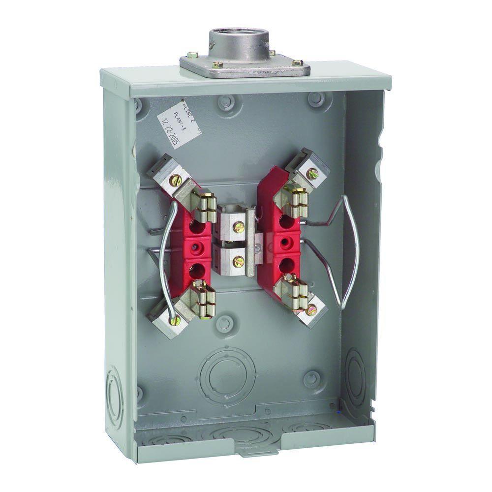 125 Amp 4-Terminal Ringless Overhead/Underground Meter Socket
