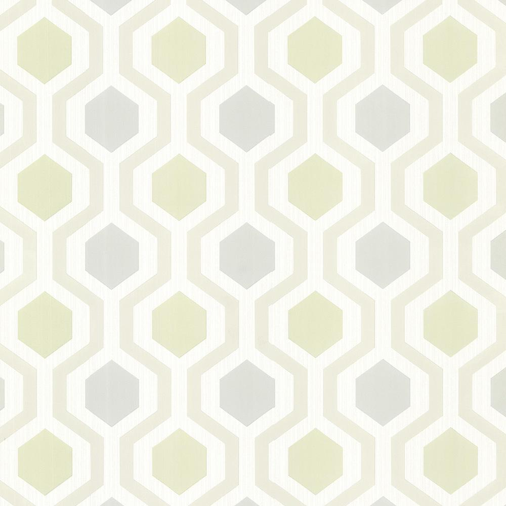 Roll Geometric Wallpaper Decor The Home Depot