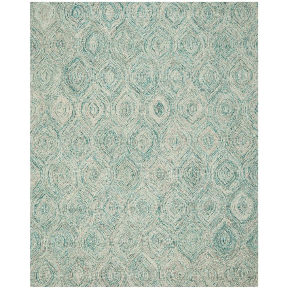 Safavieh Ikat Ivory Sea Blue 9 Ft X 12 Ft Area Rug