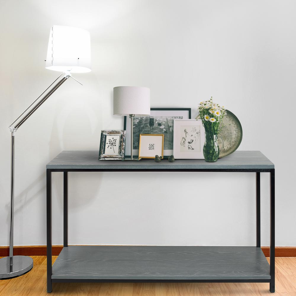 American trails studio gray washed solid red oak top and shelf american trails studio gray washed solid red oak top and shelf console table geotapseo Choice Image