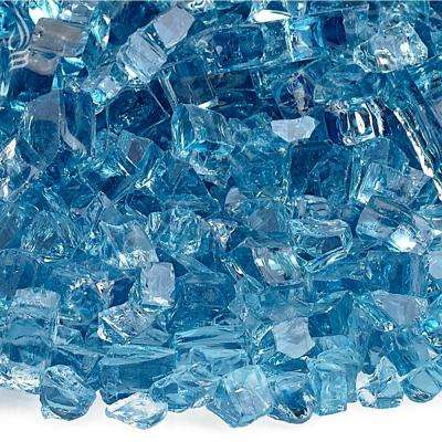 1/4 in. Pacific Blue Fire Glass 10 lbs. Bag