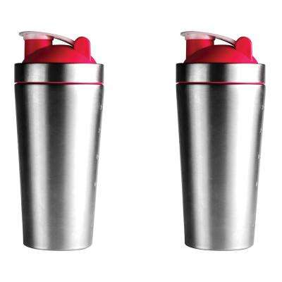2-Piece Red 30 oz. Shake It Baby Workout Bottle Set