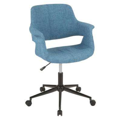 Vintage Flair Blue Office Chair