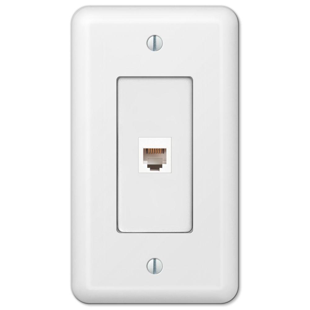 Devon 1 Phone Wall Plate - White