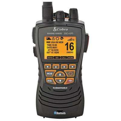 DSC Floating Black VHF Marine Radio with Built-in GPS and Bluetooth