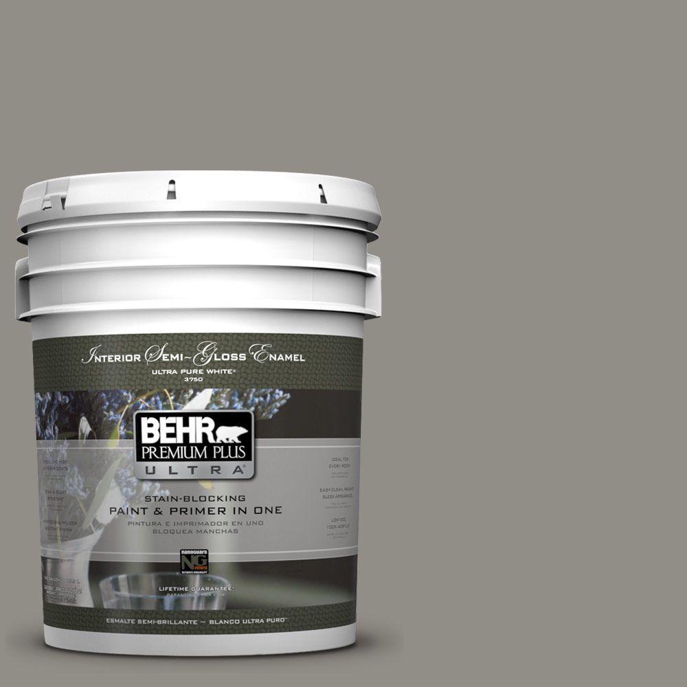 BEHR Premium Plus Ultra 5-gal. #T13-17 Timber Town Semi-Gloss Enamel Interior Paint