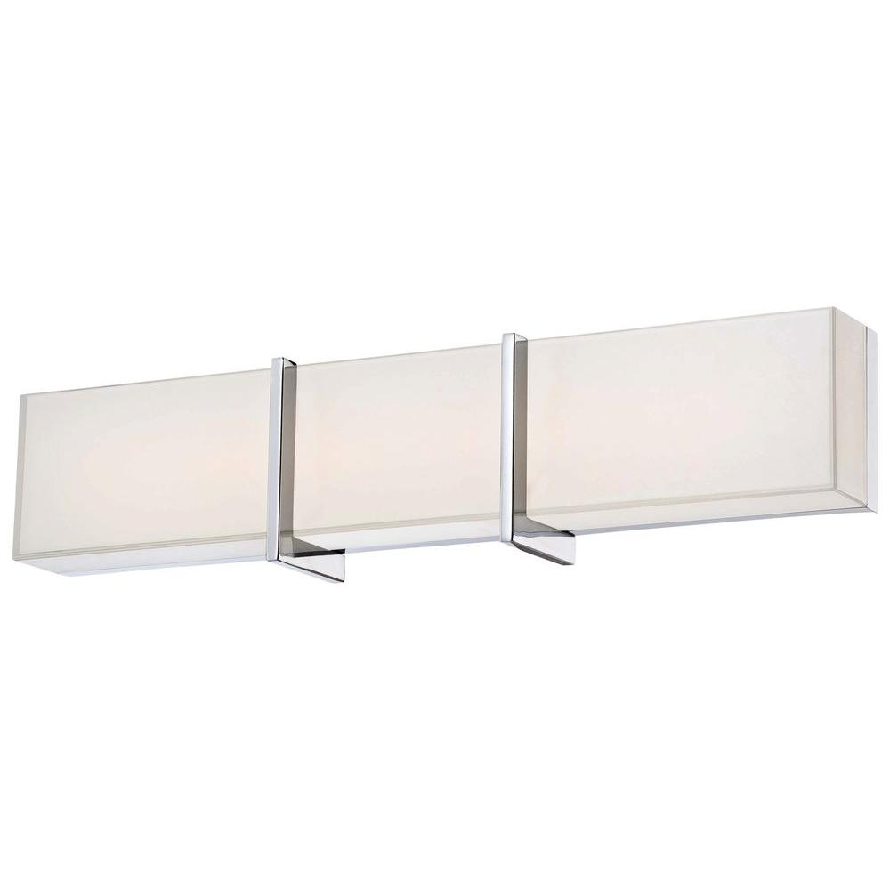 minka lavery high rise led bath chrome vanity light 2922 77 l the rh homedepot com led bathroom vanity lights modern led bathroom vanity lights canada