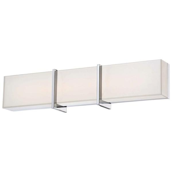 High Rise LED Bath Chrome Vanity Light