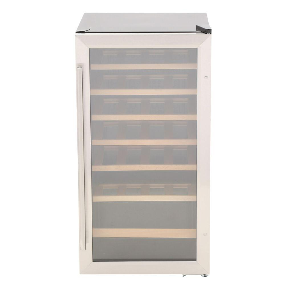Vissani 17 in. 28-Bottle Wine Cooler in Stainless Steel