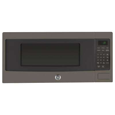 Profile 1.1 cu. ft. Countertop Microwave in Slate with Sensor Cooking, Fingerprint Resistant