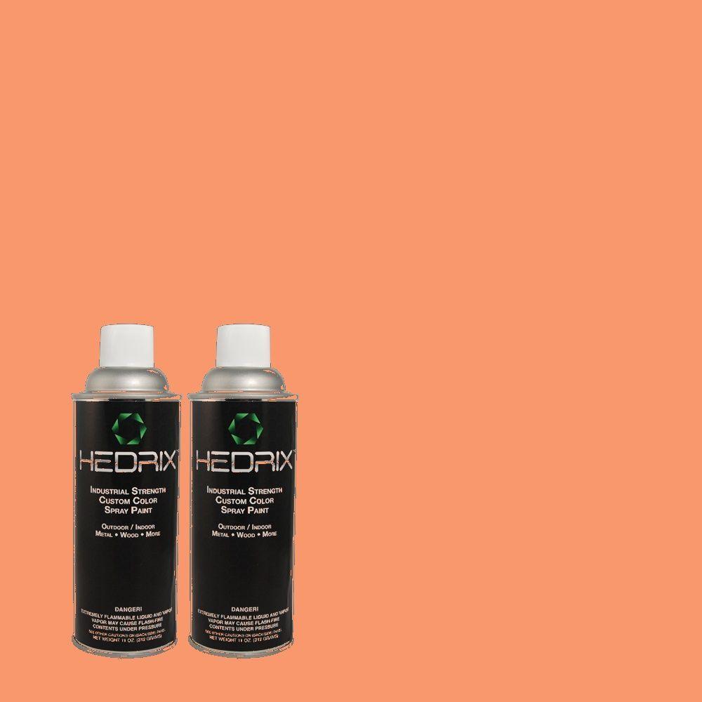 Hedrix 11 oz. Match of 200B-5 Indian Dance Semi-Gloss Custom Spray Paint (2-Pack)
