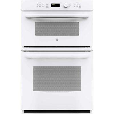 27 in. Electric Wall Oven with Built-In Microwave in White