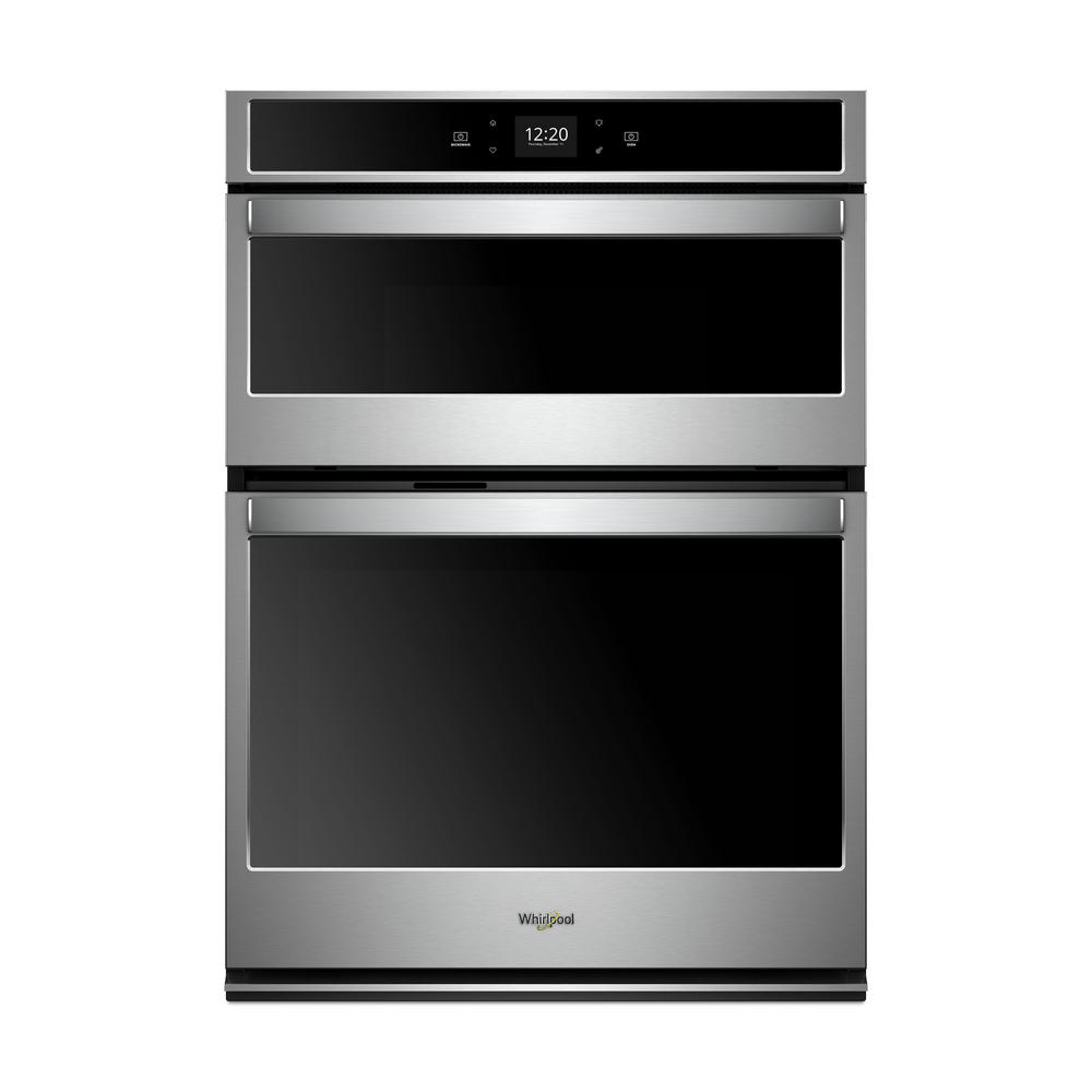 Whirlpool 30 in. Electric Smart Wall Oven with Built-In Microwave and Touchscreen in Stainless Steel