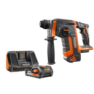 18-Volt OCTANE Brushless 1 in. SDS-Plus Rotary Hammer with 18-Volt 2.0 Ah Lithium-Ion Battery and Charger Kit
