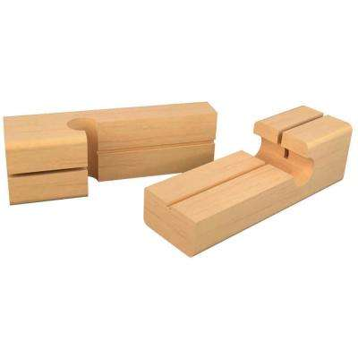 4 in. x 1-1/8 in. Wood Line Blocks (2-Package)
