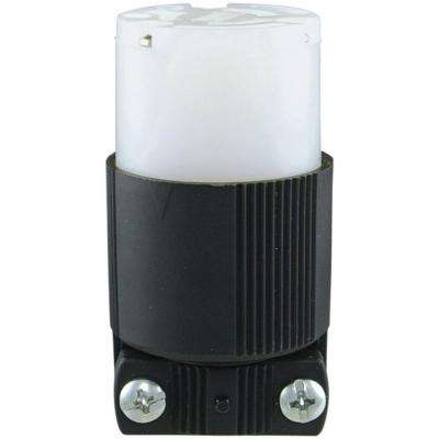 15 Amp 250-Volt L6-15 Safety Grip Connector, Black and White