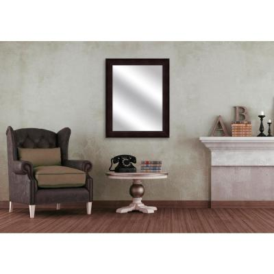 31.5 in. x 25.5 in. Dark Bronze Framed Mirror