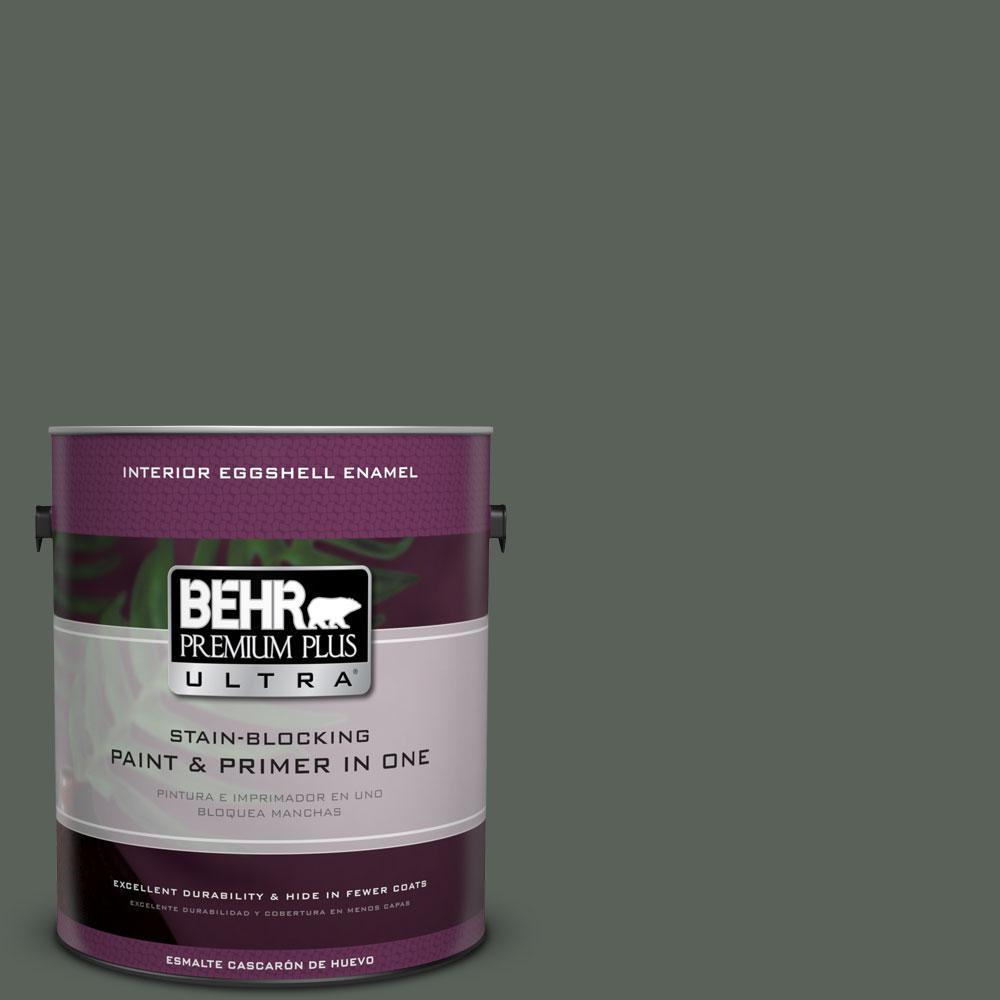 BEHR Premium Plus Ultra 1-gal. #PPF-45 Woodland Moss Eggshell Enamel Interior Paint