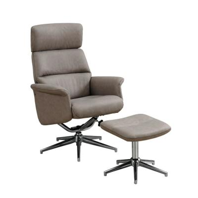Jasmine Taupe Reclining Media Chair