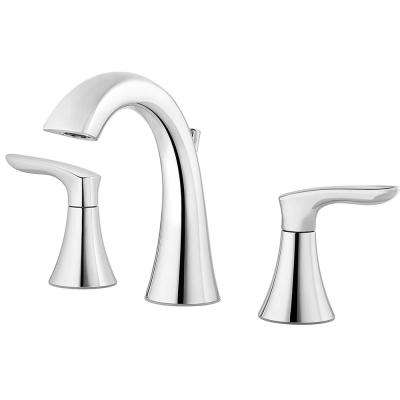 Weller 8 in. Widespread 2-Handle Bathroom Faucet in Polished Chrome